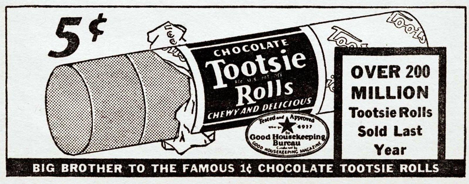 Vinatge Tootsie Rolls (1937)