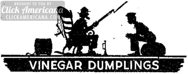 Vinegar Dumplings A fruity old-fashioned favorite -1943