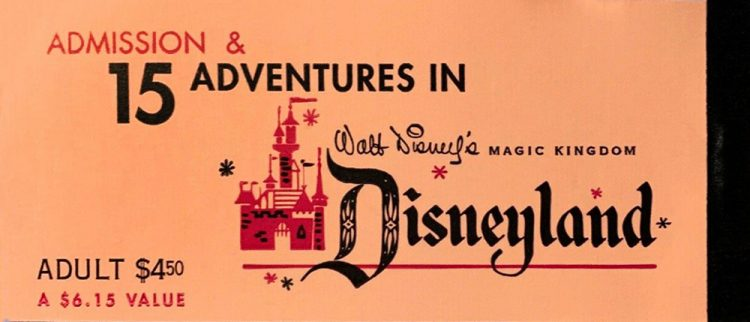 Vintage 15 adventures in Disneyland vintage ticket book