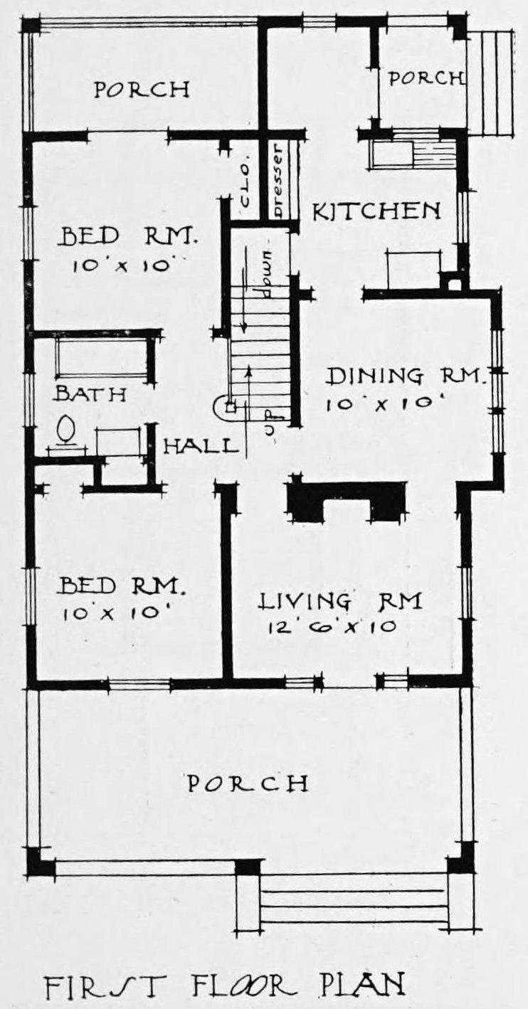 Vintage 1910 cottage home plan - Number 40