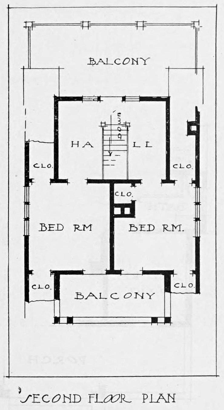 Vintage 1910 cottage home plans - Number 40 Floor 2