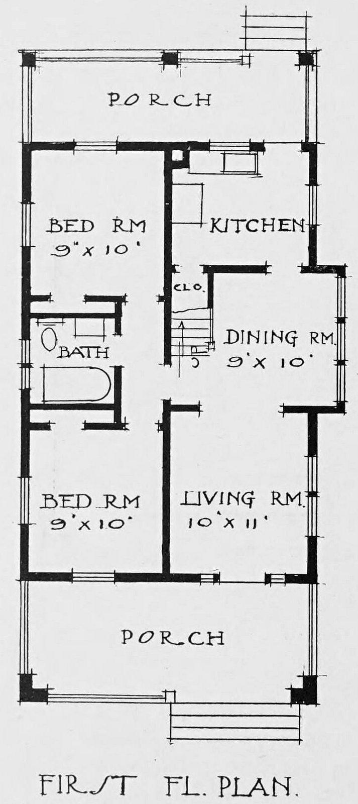 Vintage 1910 cottage home plans - Number 57 (2)
