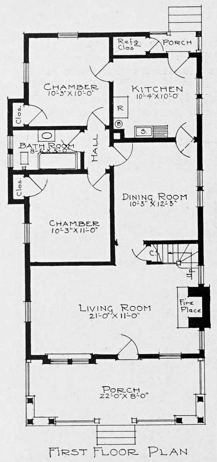 Vintage 1910 cottage home plans - Number 750 (1)