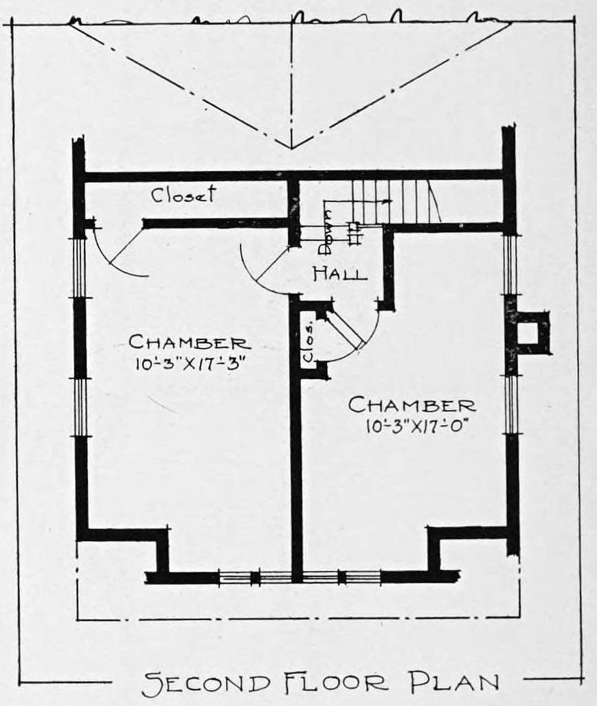 Vintage 1910 cottage home plans - Number 750 (2)