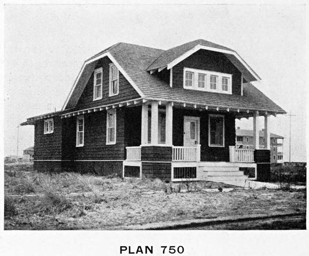 Vintage 1910 cottage home plans - Number 750