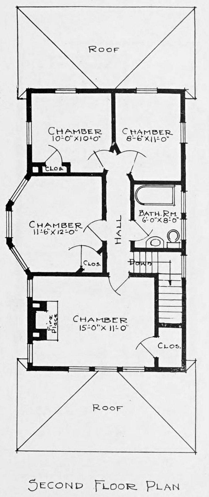 Vintage 1910 cottage home plans - Number 797 (1)