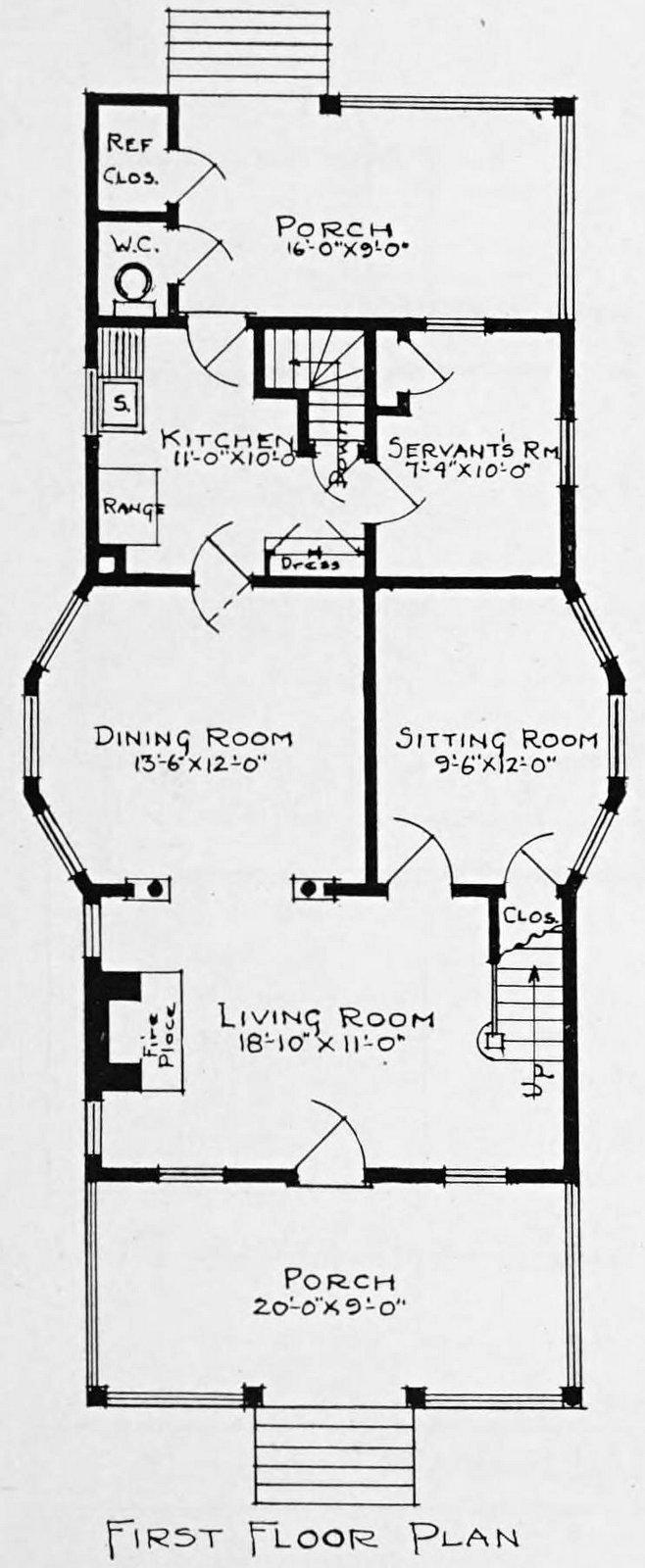 Vintage 1910 cottage home plans - Number 797 (2)