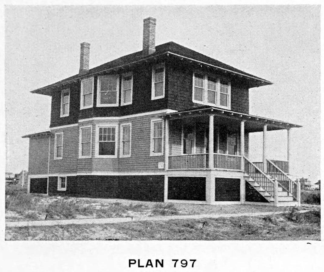 Vintage 1910 cottage home plans - Number 797