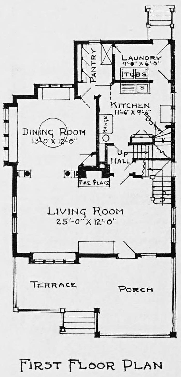 Vintage 1910 cottage home plans - Number 928 (1)