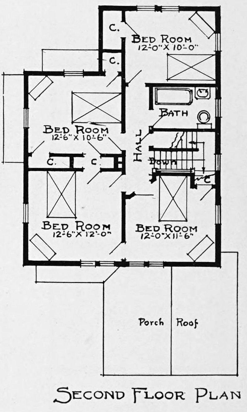 Vintage 1910 cottage home plans - Number 928 (2)