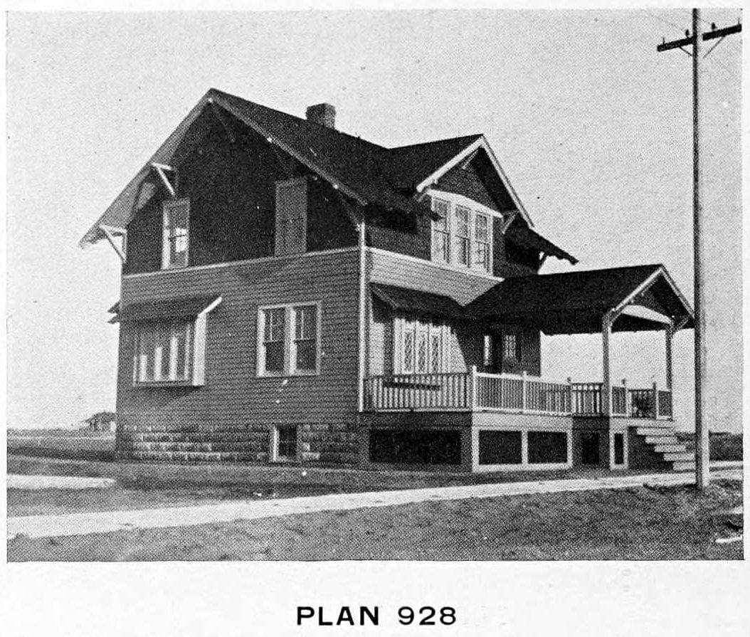 Vintage 1910 cottage home plans - Number 928
