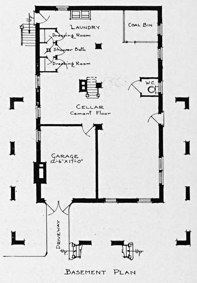 Vintage 1910 cottage home plans - Number 934 (1)
