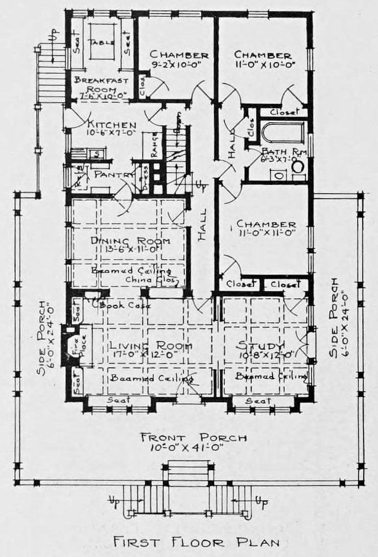 Vintage 1910 cottage home plans - Number 934 (2)