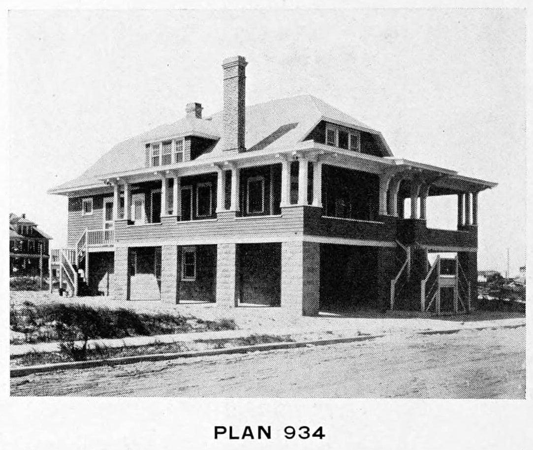 Vintage 1910 cottage home plans - Number 934