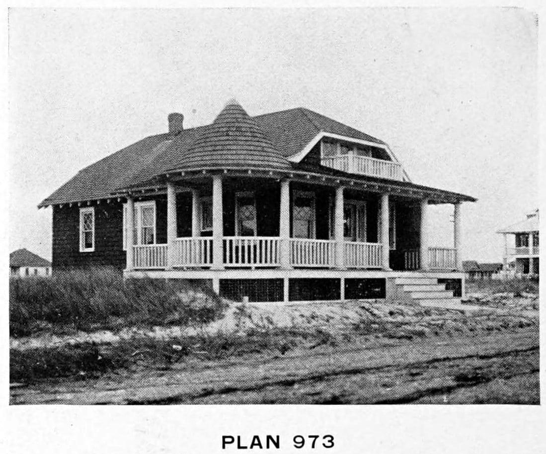 Vintage 1910 cottage home plans - Number 973