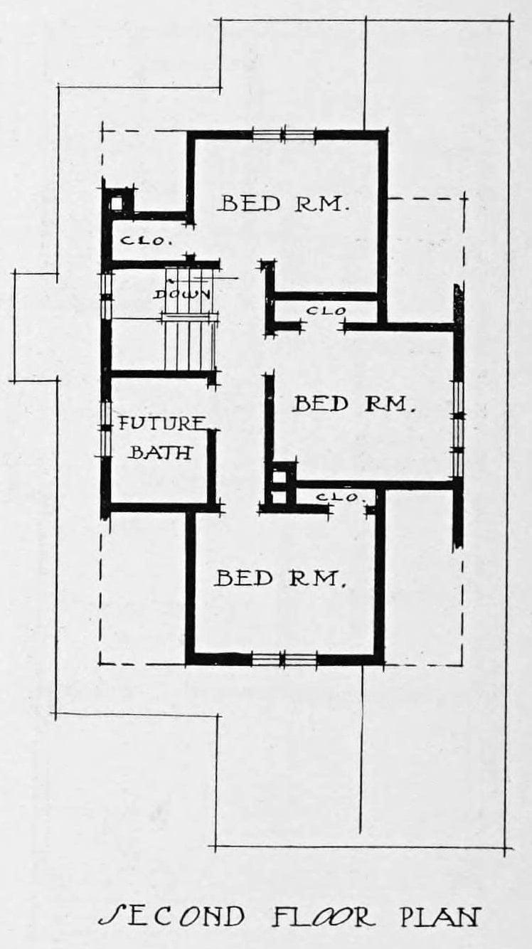 Vintage 1910 cottage home plans for house 53 (1)