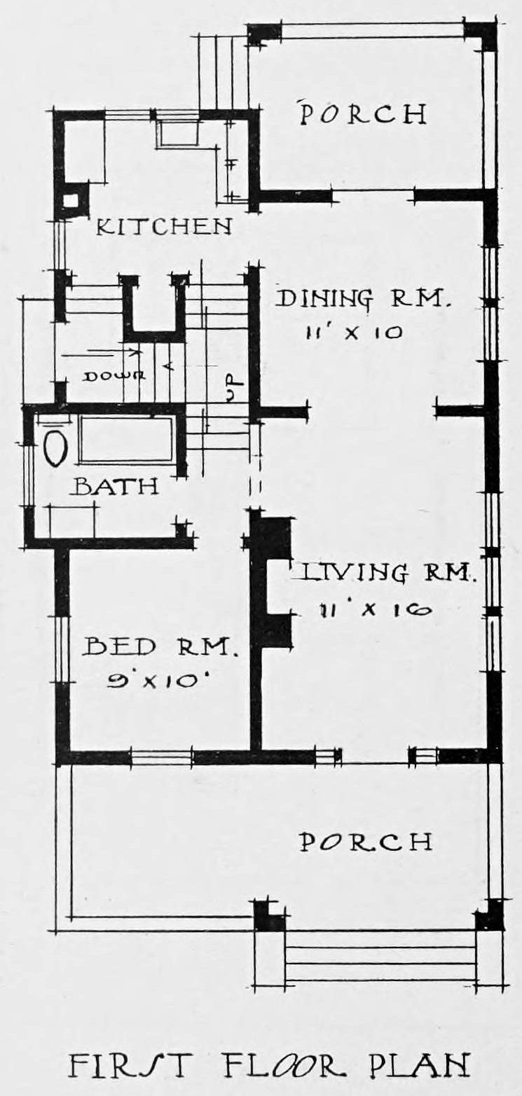 Vintage 1910 cottage home plans for house 53 (2)