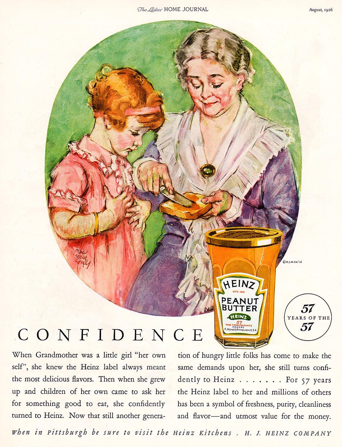Vintage 1920s Heinz peanut butter