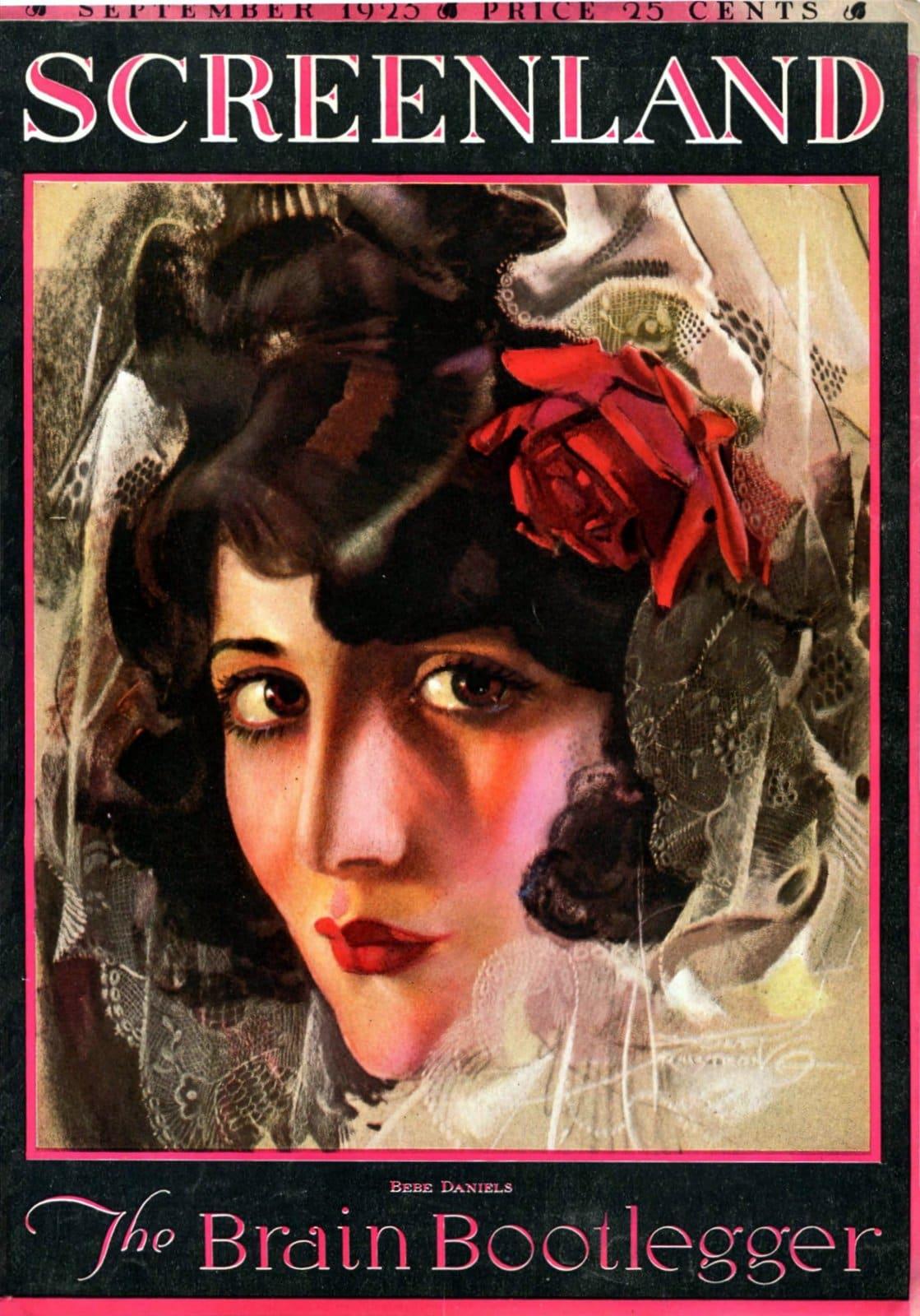 Vintage 1920s actress Bebe Daniels (1923)