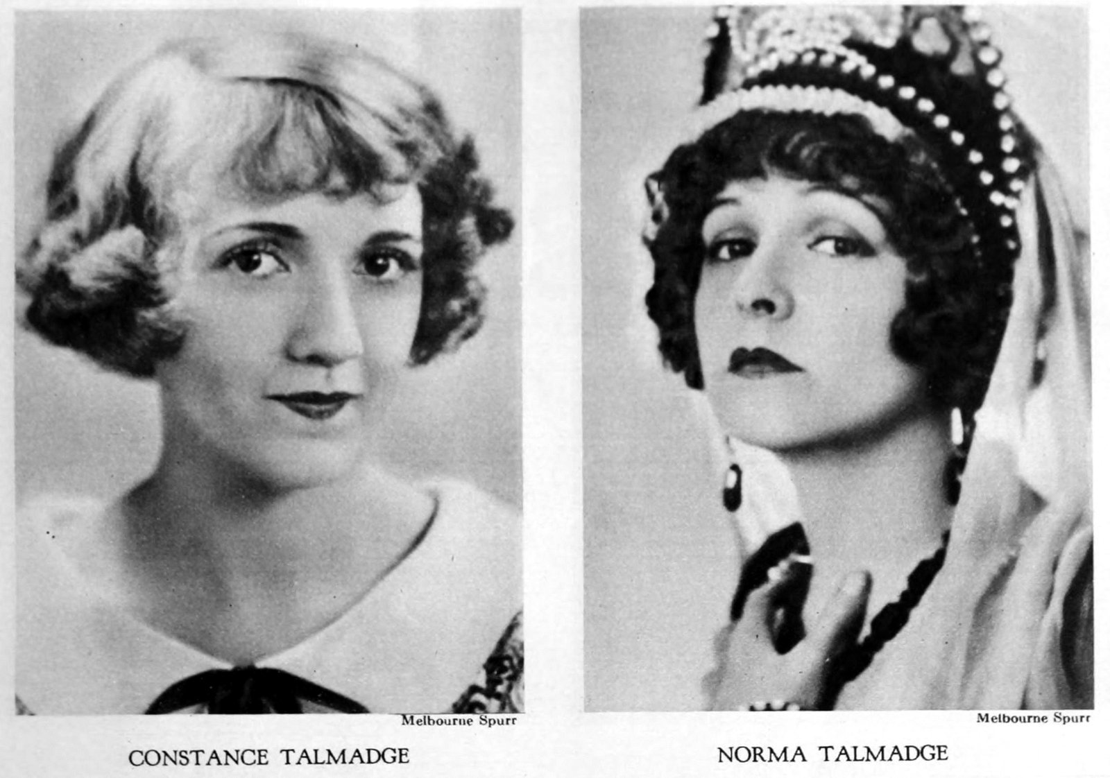 Vintage 1920s hairstyles - Constance Talmadge and Normal Talmadge