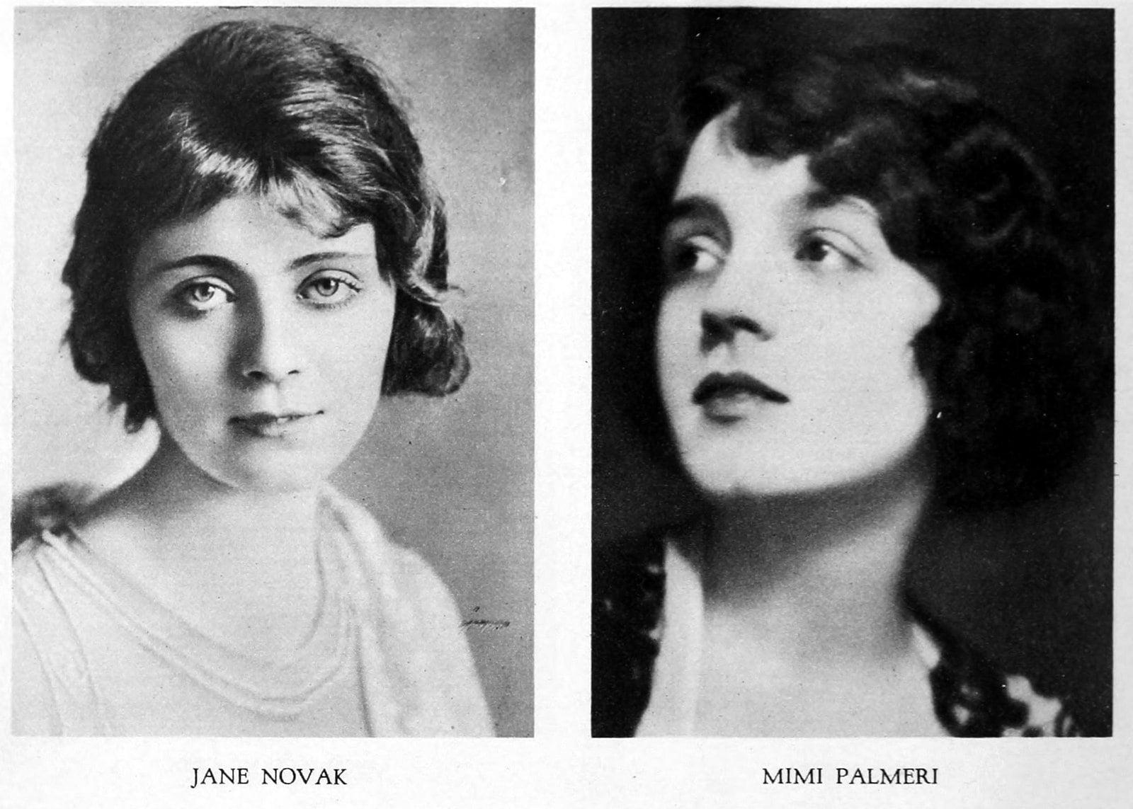 Vintage 1920s hairstyles - Jane Novak and Mimi Palmeri