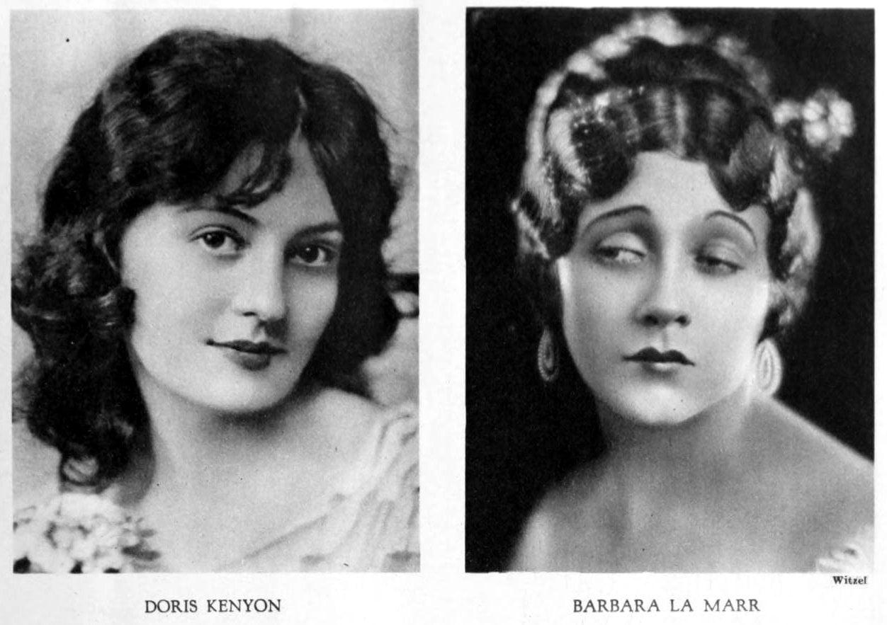 Vintage 1920s hairstyles for women - actresses Doris Kenyon and Barbara La Marr