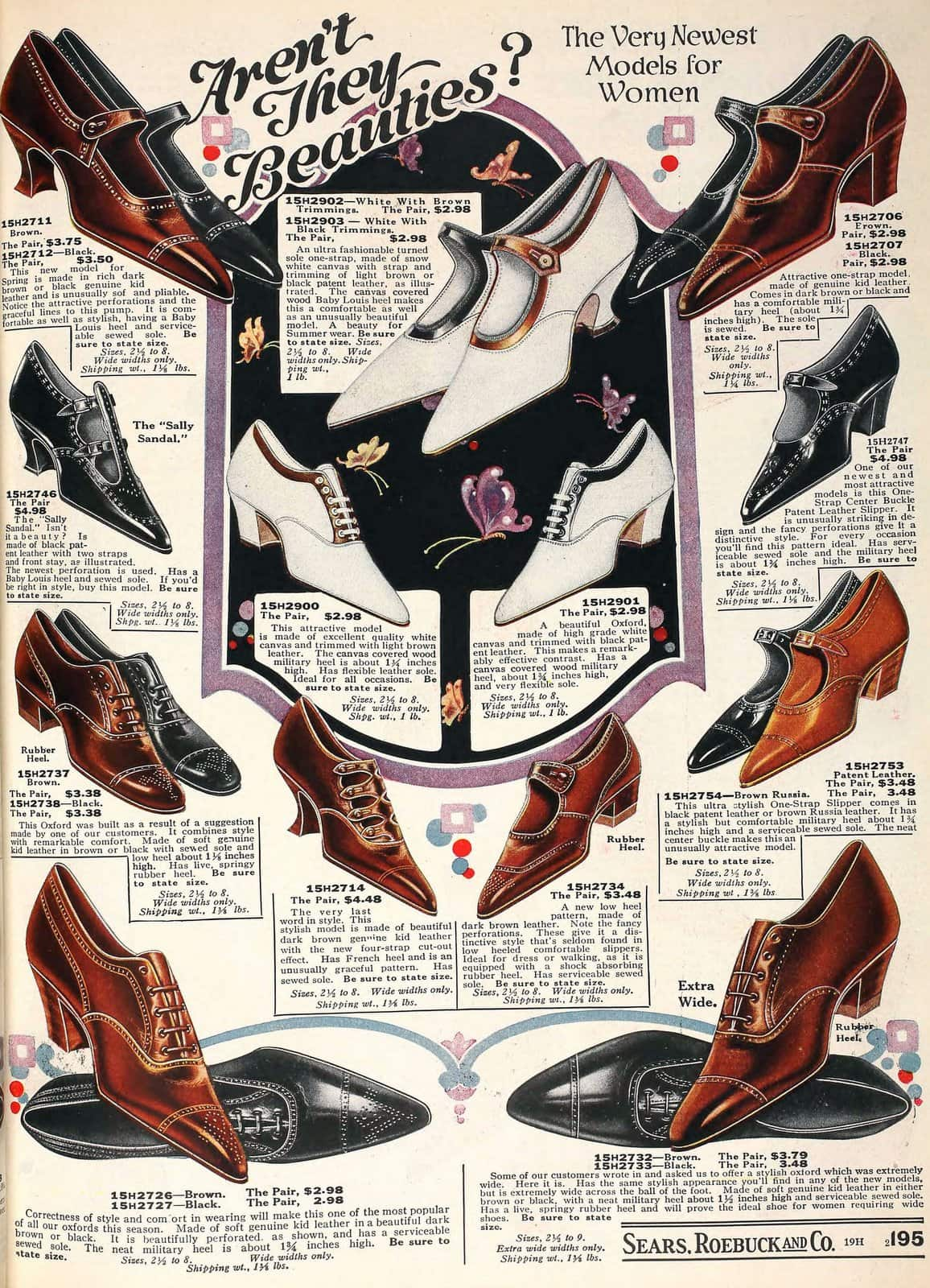 Vintage 1920s shoes for women from 1923