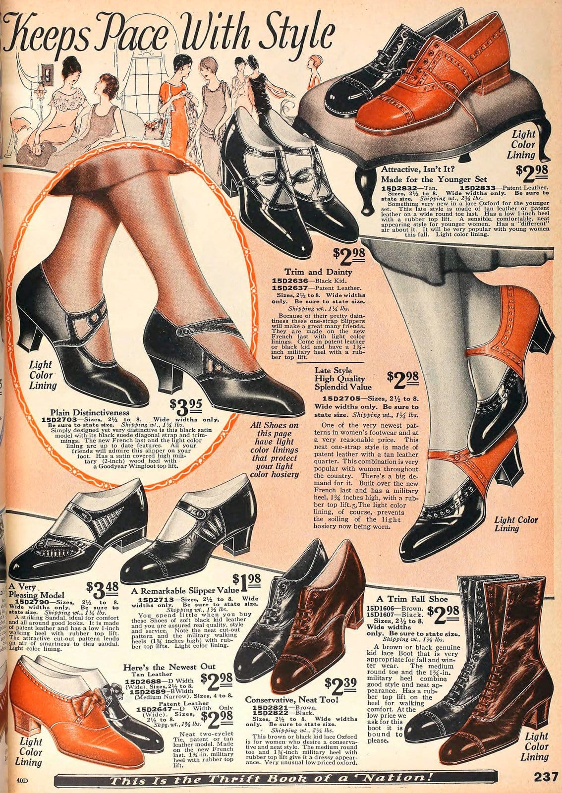 Vintage 1920s shoes for women from 1925 (3)