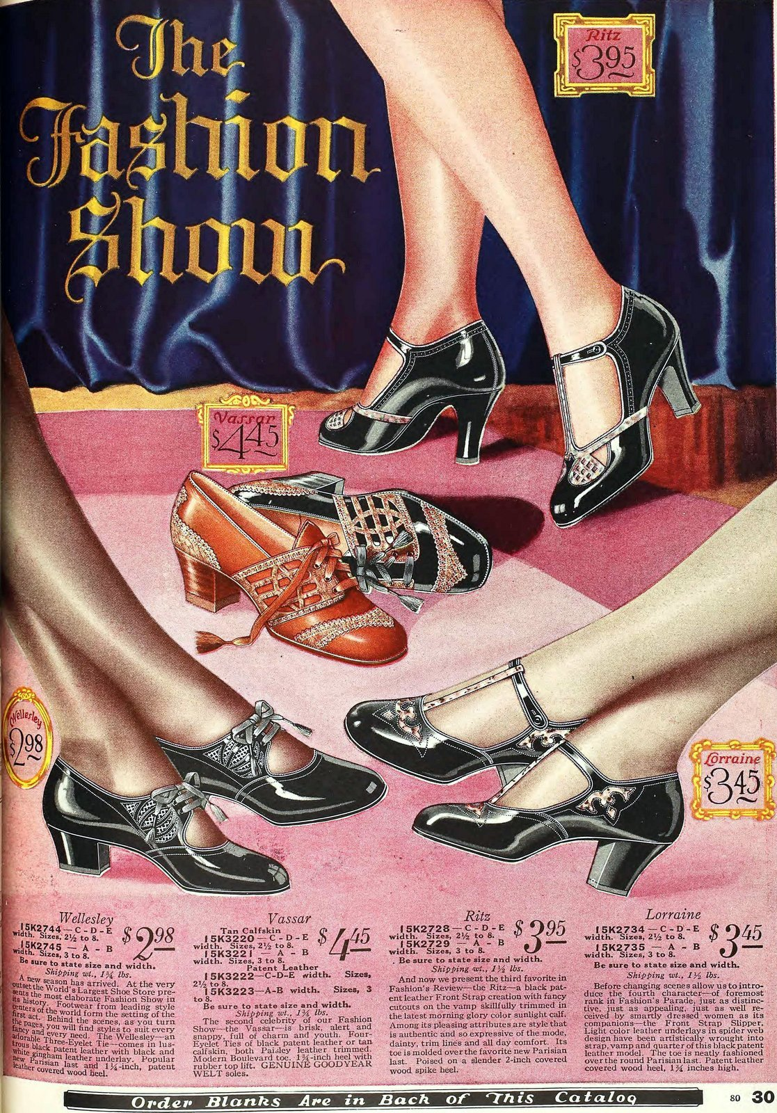 Vintage 1920s shoes for women from 1927