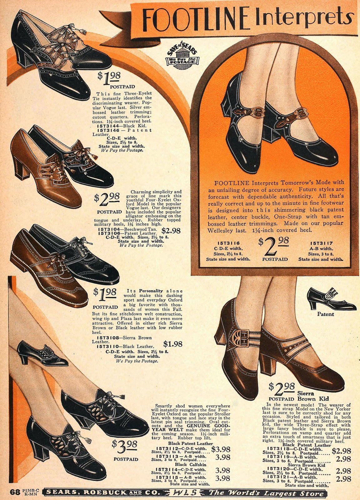 Vintage 1920s shoes for women from 1929 (2)