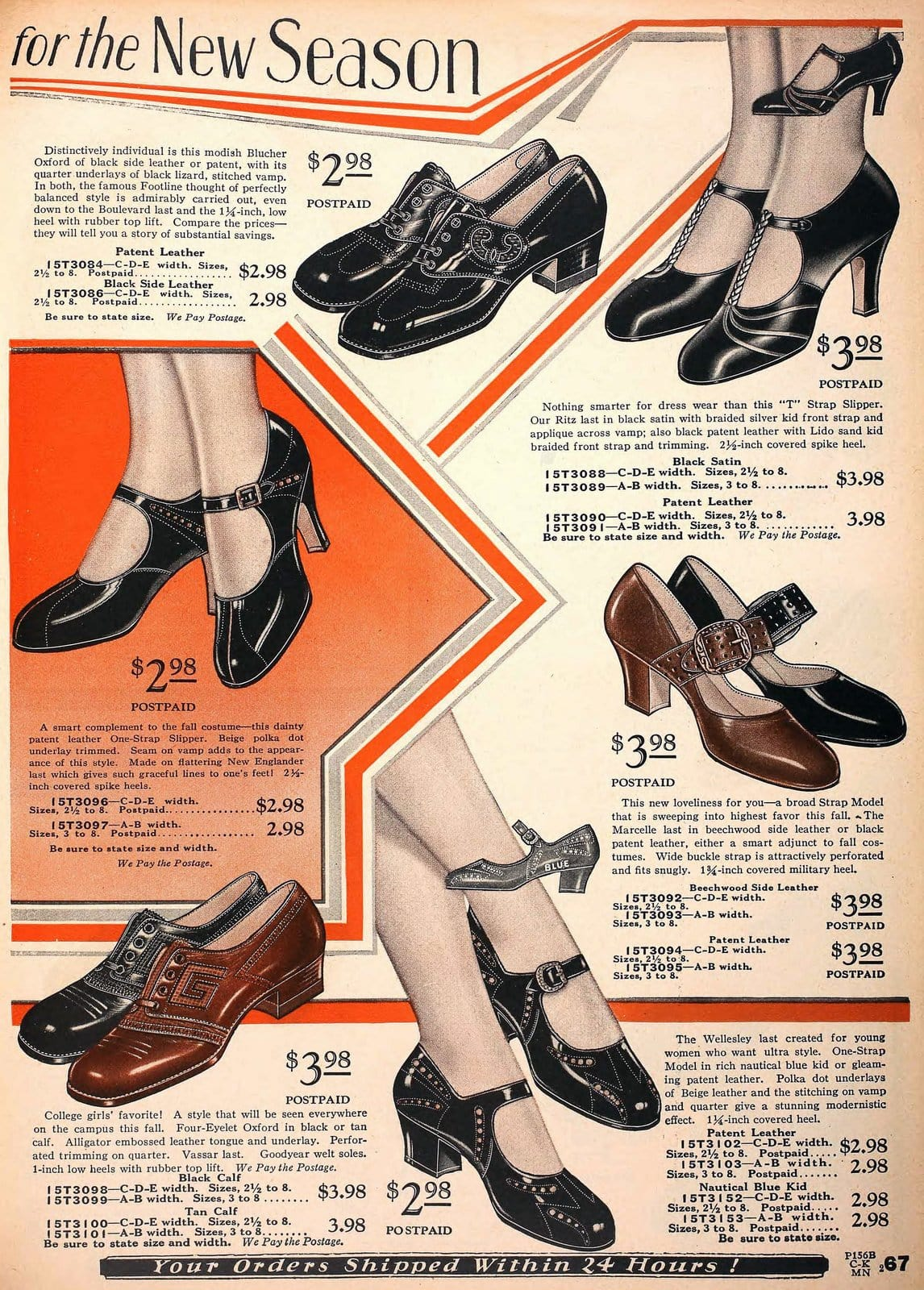 Vintage 1920s shoes for women from 1929 (3)