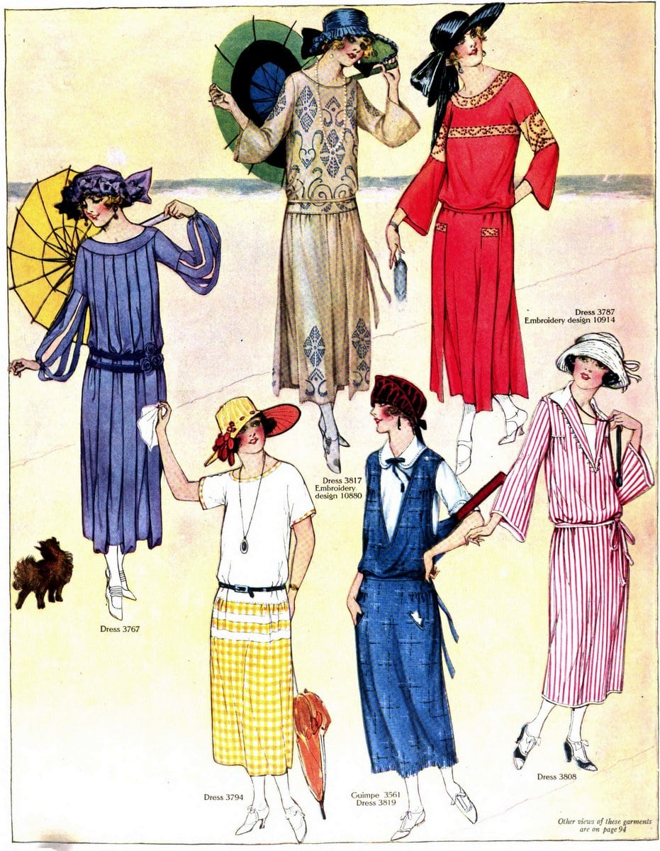 Vintage 1920s summer clothing - July 1922 (1)
