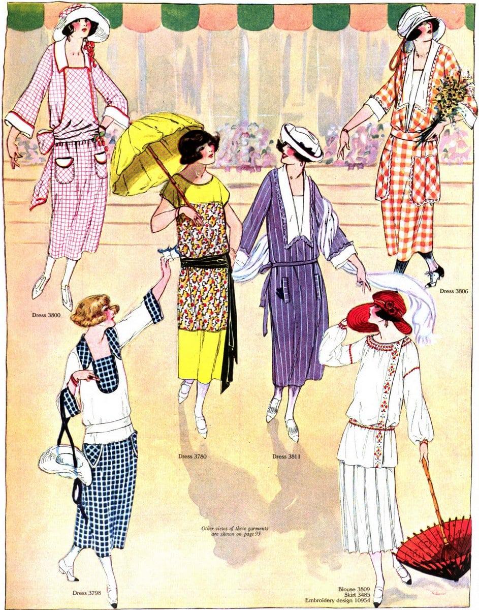 Vintage 1920s summer clothing - July 1922 (2)