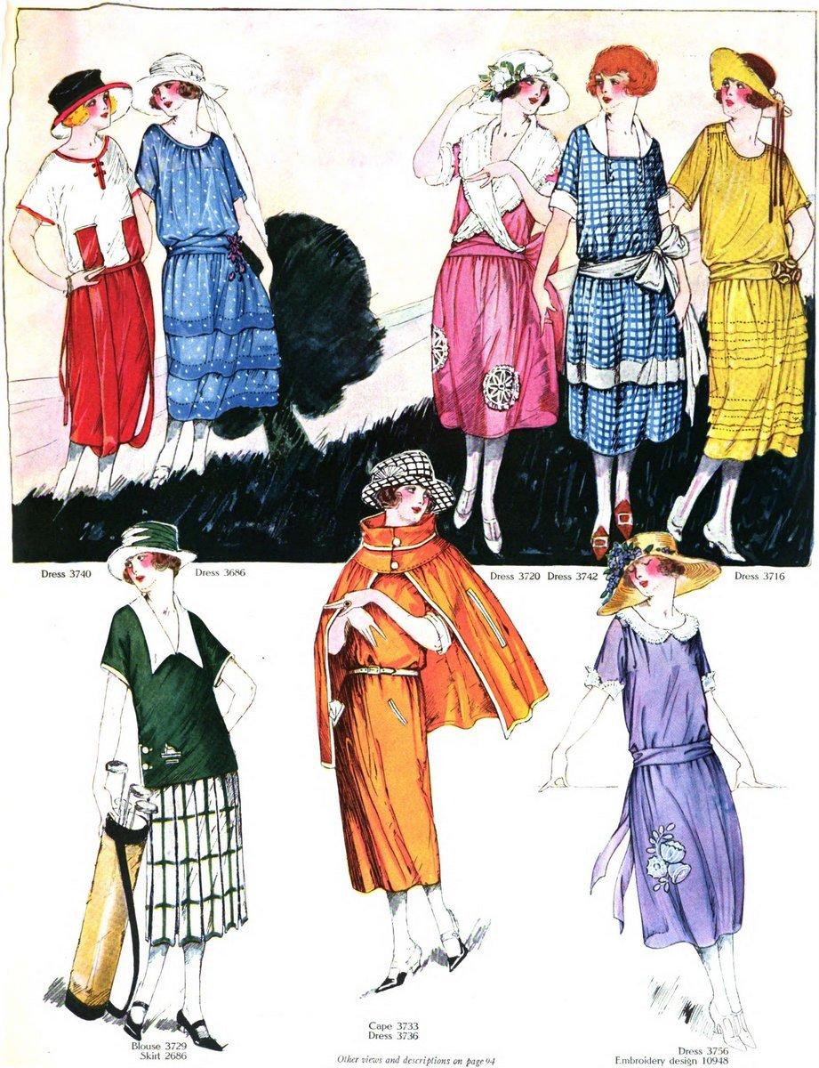Vintage 1920s summer clothing - June 1922 (1)