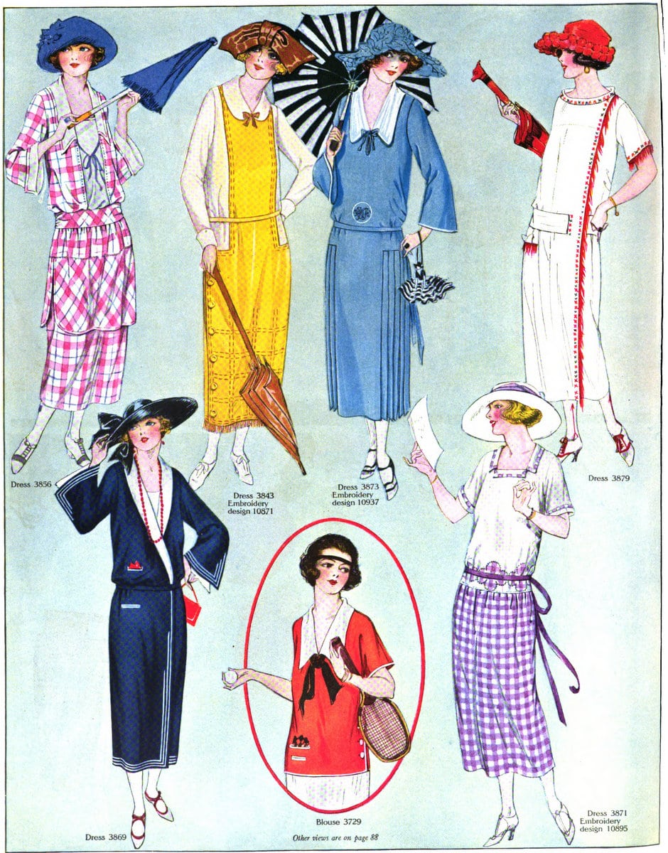 Vintage 1920s summer womenswear from August 1922 (1)
