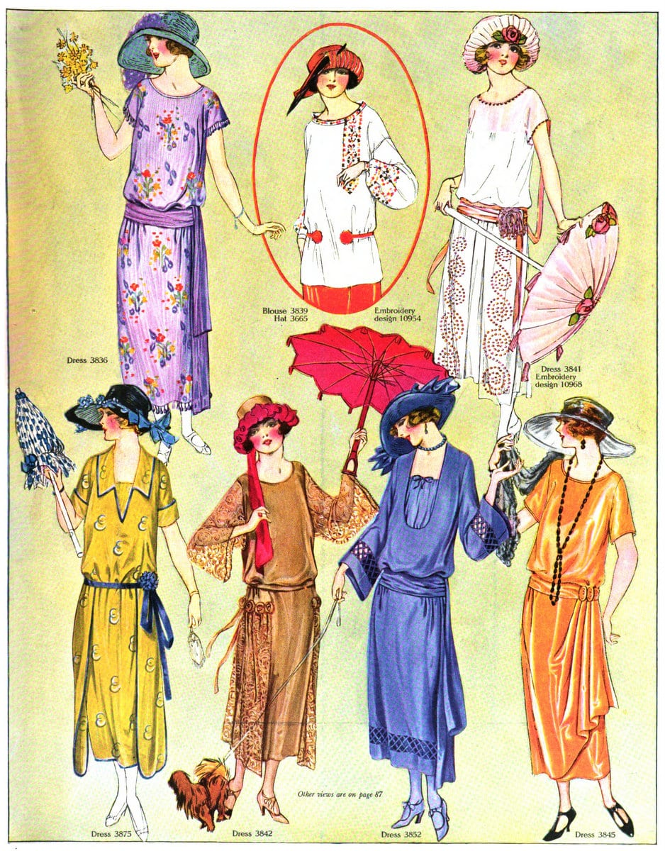Vintage 1920s summer womenswear from August 1922 (2)