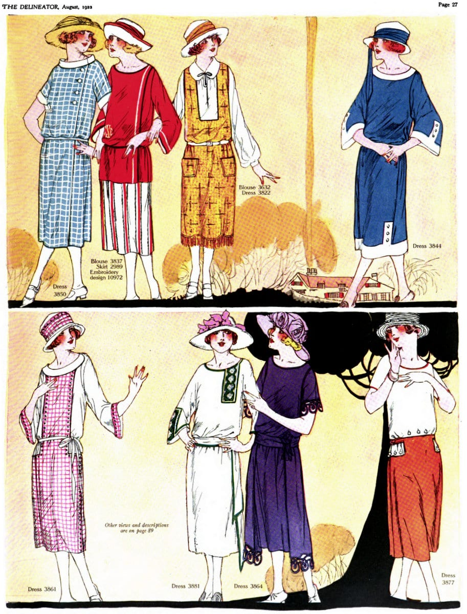 Vintage 1920s summer womenswear from August 1922 (3)
