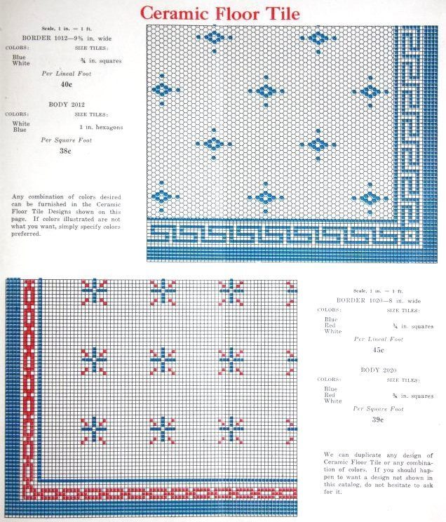 Vintage 1920s tile patterns from Lloyd Floor & Wall Tile Co - c1928 (2)
