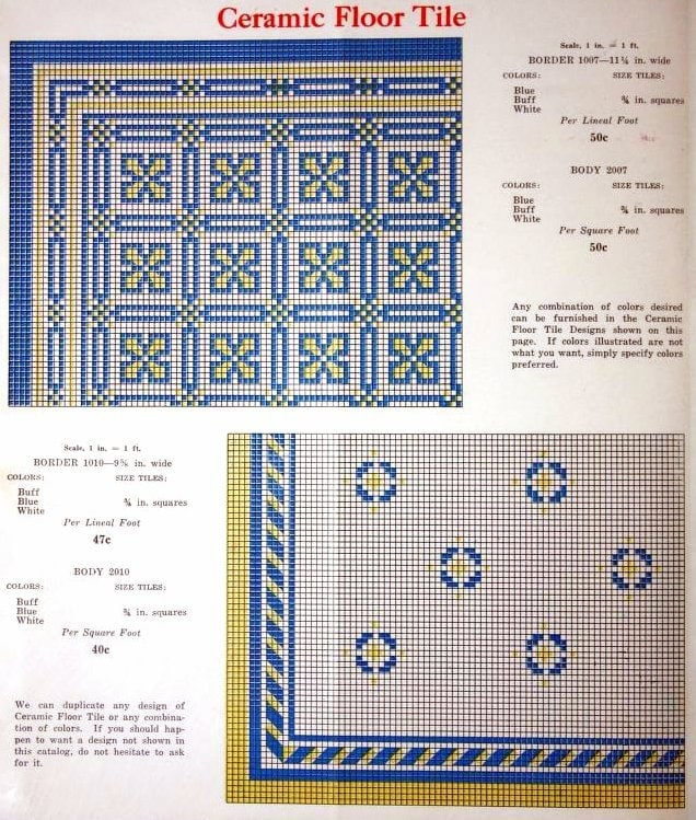 Vintage 1920s tile patterns from Lloyd Floor & Wall Tile Co - c1928 (3)