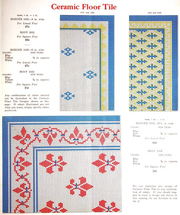 Vintage 1920s tile patterns from Lloyd Floor & Wall Tile Co - c1928 (4)