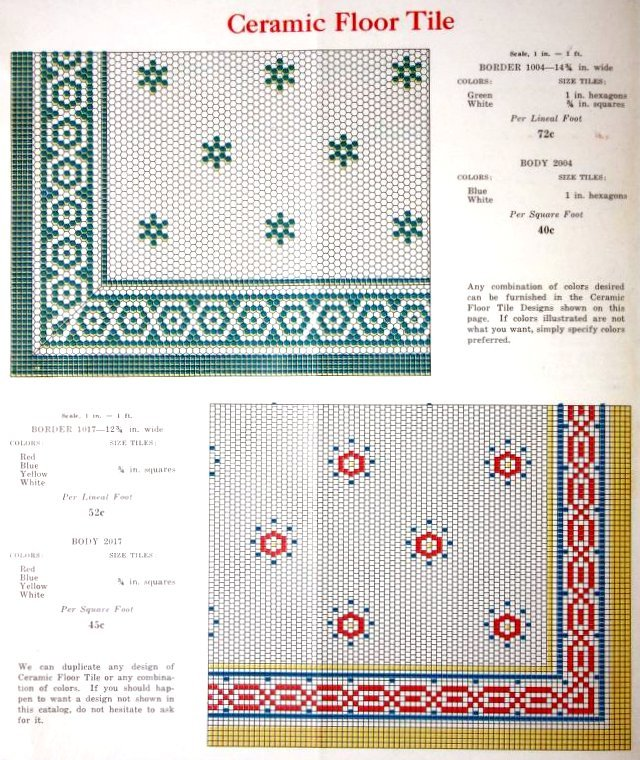 Vintage 1920s tile patterns from Lloyd Floor & Wall Tile Co - c1928 (5)
