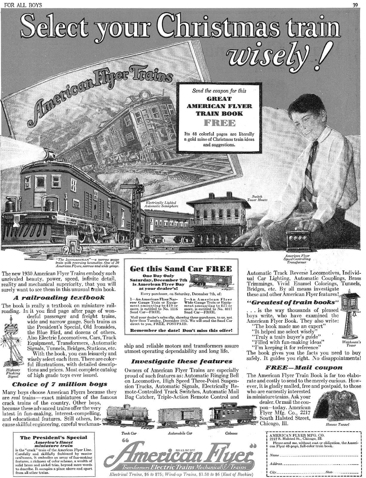 Vintage 1930 American Flyer Trains - Toy railroads