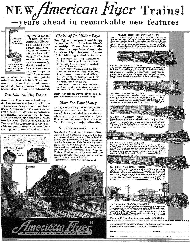 Vintage 1930 American Flyer train set
