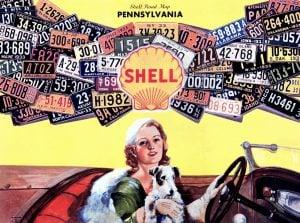 Vintage 1930s license plates