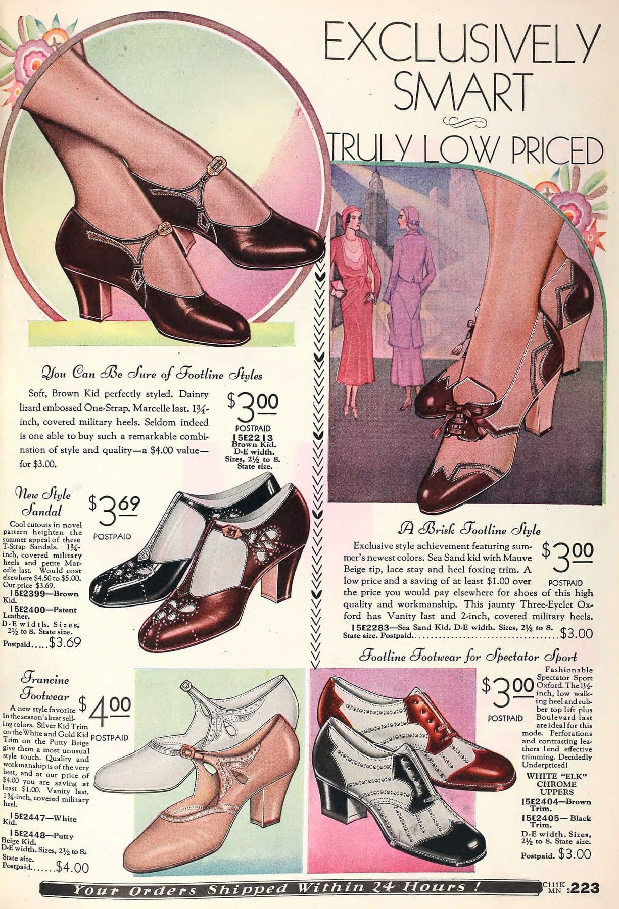 Vintage 1930s shoes for women from 1931 (1)
