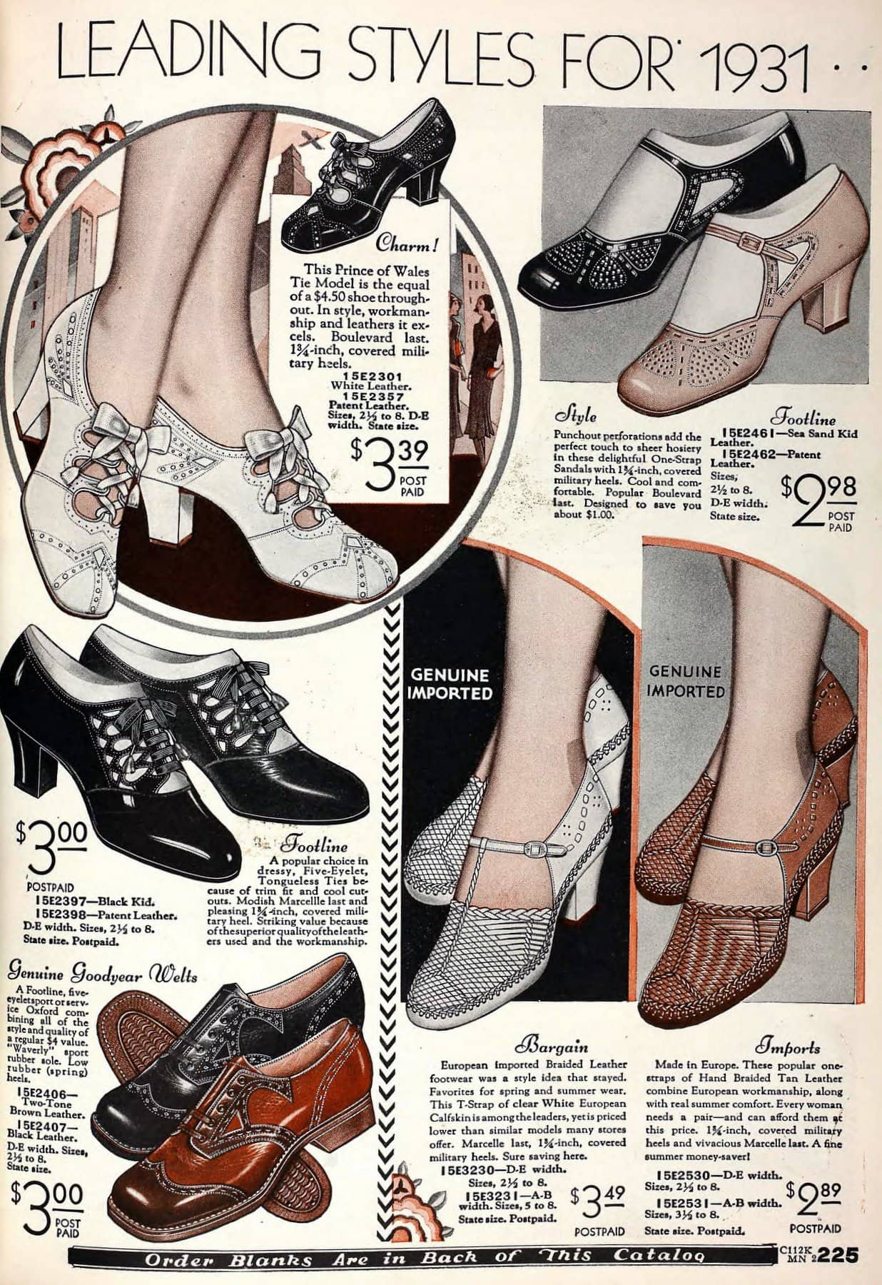 Vintage 1930s shoes for women from 1931 (2)