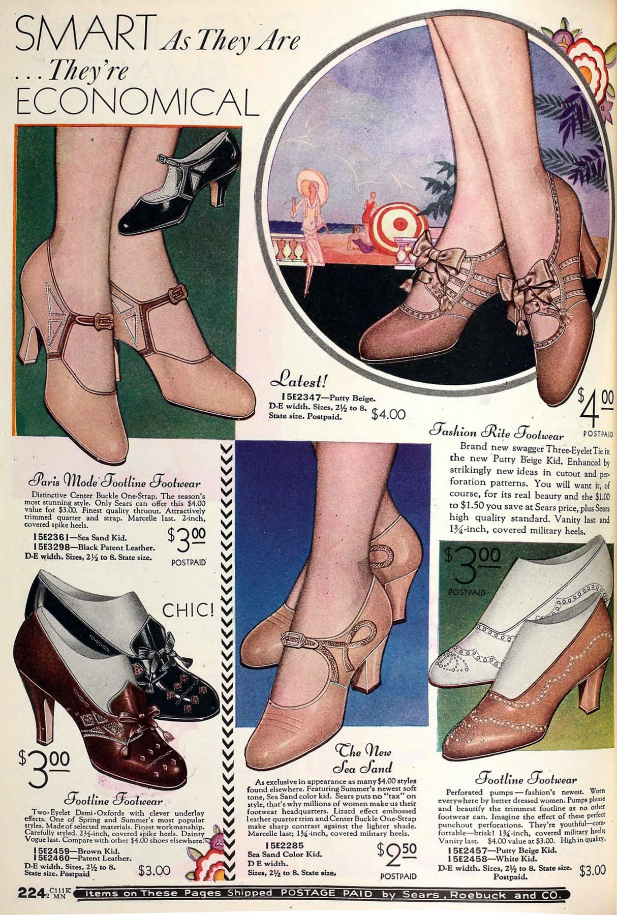 Vintage 1930s shoes for women from 1931 (3)