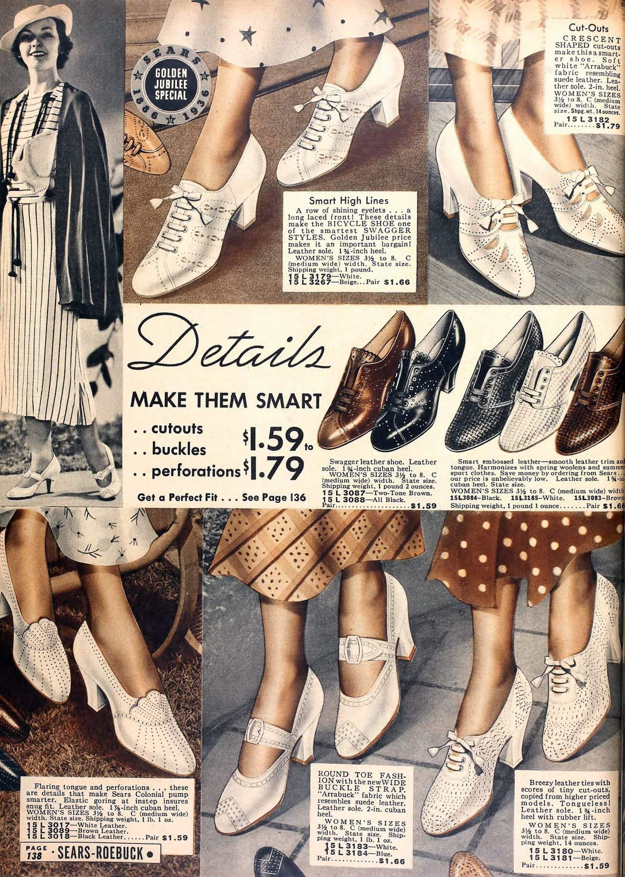 Vintage 1930s shoes for women from 1936 (1)