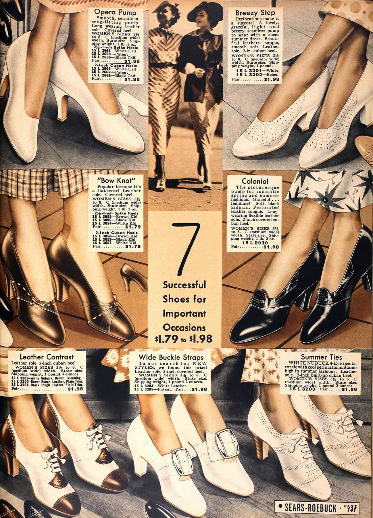 7 successful shoes for important occasions (1936)