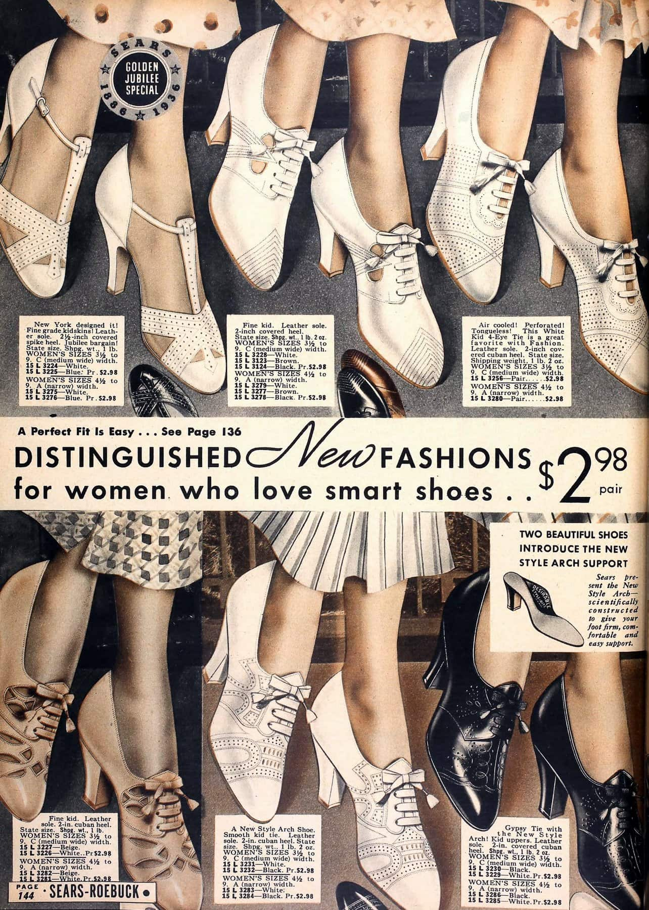 Vintage 1930s shoes for women from 1936 (3)